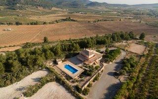 Vista aérea del alojamiento rural