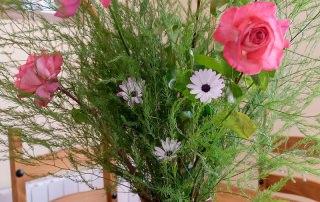 Detalle con flores frescas